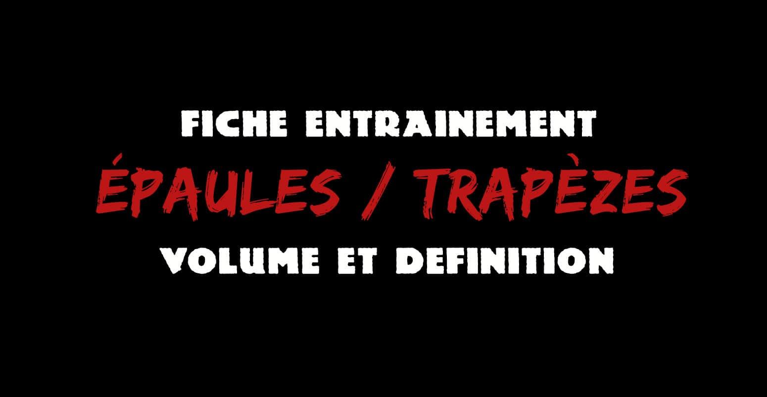 programme épaule trapezes pdf