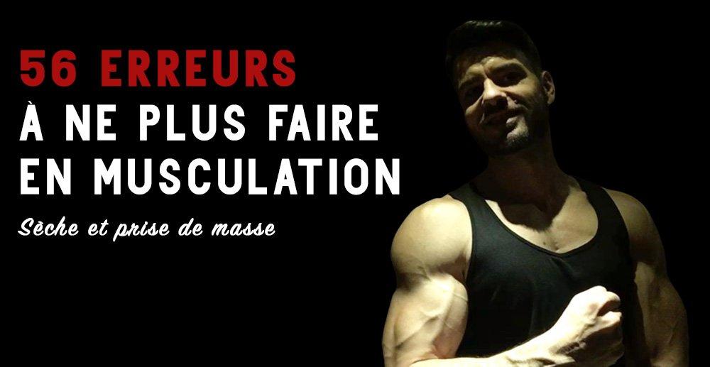 erreurs musculation