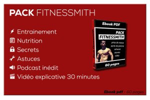 pack fitnessmith - prise de muscle