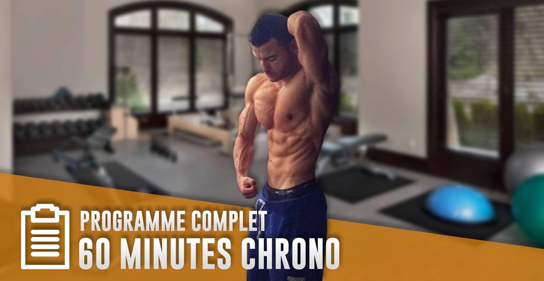Programme musculation 60 minutes – programme entrainement complet en pdf